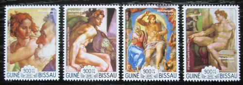 Poštovní známky Guinea-Bissau 2015 Umìní, Michelangelo Mi# 7755-58 Kat 14€
