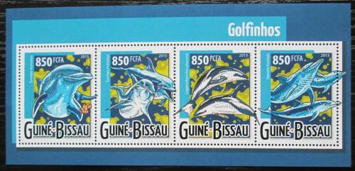 Poštovní známky Guinea-Bissau 2015 Delfíni Mi# 7953-56 Kat 13€