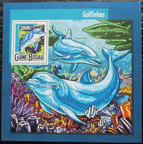 Poštovní známka Guinea-Bissau 2015 Delfíni Mi# Block 1384 Kat 11€