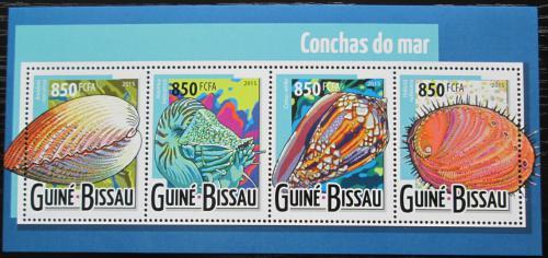 Poštovní známky Guinea-Bissau 2015 Mušle Mi# 7943-46 Kat 13€