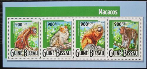 Poštovní známky Guinea-Bissau 2015 Opice Mi# 7972-75 Kat 13€