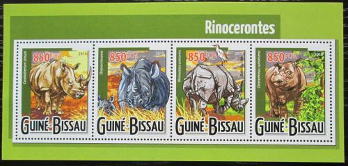 Poštovní známky Guinea-Bissau 2015 Nosorožci Mi# 7925-28 Kat 14€
