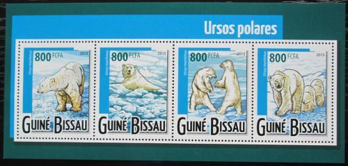 Poštovní známky Guinea-Bissau 2015 Lední medvìd Mi# 7920-23 Kat 13€