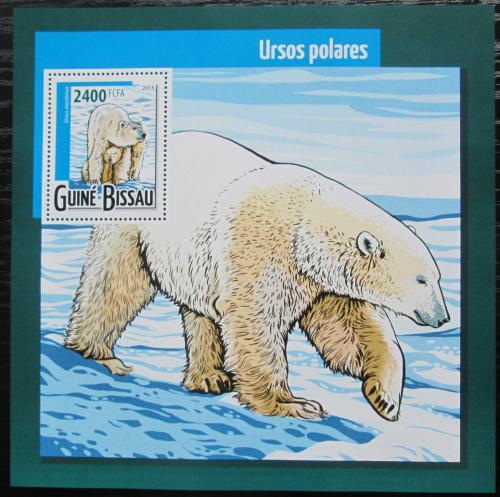 Poštovní známka Guinea-Bissau 2015 Lední medvìd Mi# Block 1379 Kat 9€