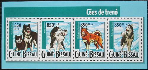 Poštovní známky Guinea-Bissau 2015 Tažní psi Mi# 7958-61 Kat 13€