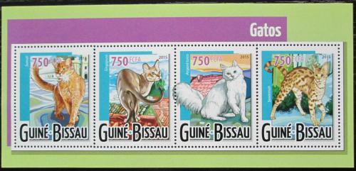 Poštovní známky Guinea-Bissau 2015 Koèky Mi# 7905-08 Kat 12€