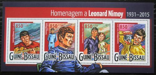 Poštovní známky Guinea-Bissau 2015 Leonard Nimoy, herec Mi# 8001-04 Kat 14€