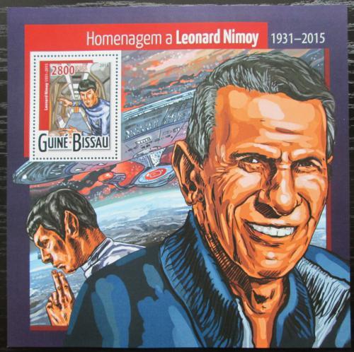 Poštovní známka Guinea-Bissau 2015 Leonard Nimoy, herec Mi# Block 1392 Kat 11€