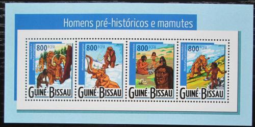 Poštovní známky Guinea-Bissau 2015 Mamut a pravìk Mi# 7852-55 Kat 13€