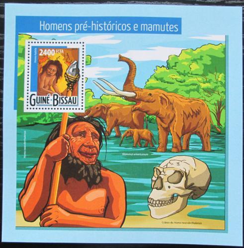 Poštovní známka Guinea-Bissau 2015 Mamut a pravìk Mi# Block 1367 Kat 9€