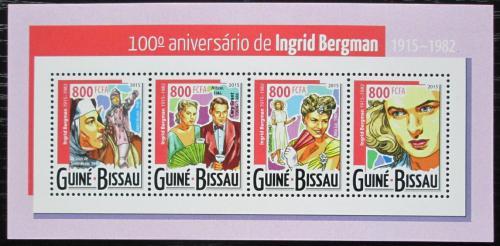 Poštovní známky Guinea-Bissau 2015 Ingrid Bergman, hereèka Mi# 7857-60 Kat 13€