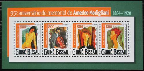 Poštovní známky Guinea-Bissau 2015 Umìní, Amedeo Modigliani Mi# 7862-65 Kat 13€