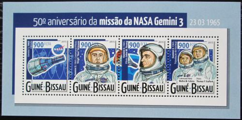 Poštovní známky Guinea-Bissau 2015 Vesmírná mise Gemini 3 Mi# 7890-93 Kat 14€