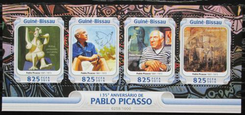 Poštovní známky Guinea-Bissau 2016 Umìní, Pablo Picasso Mi# 8474-77 Kat 12.50€