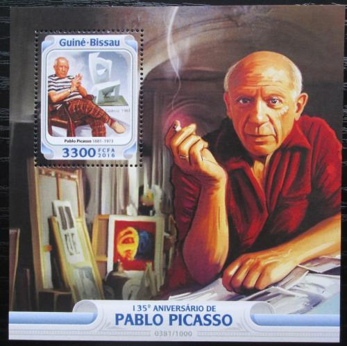 Poštovní známka Guinea-Bissau 2016 Umìní, Pablo Picasso Mi# Block 1466 Kat 12.50€