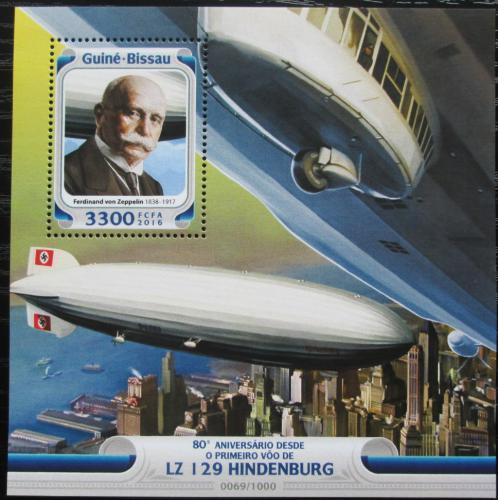 Poštovní známka Guinea-Bissau 2016 Hindenburg LZ 1269 Mi# Block  1468 Kat 12.50€