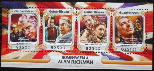 Poštovní známky Guinea-Bissau 2016 Alan Rickman, herec Mi# 8499-8502 Kat 12.50€