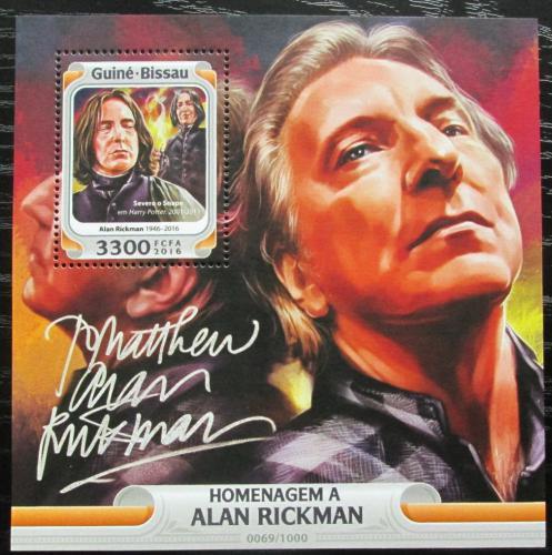 Poštovní známka Guinea-Bissau 2016 Alan Rickman, herec Mi# Block 1471 Kat 12.50€