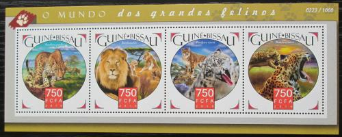 Poštovní známky Guinea-Bissau 2015 Koèkovité šelmy Mi# 8357-60 Kat 11€