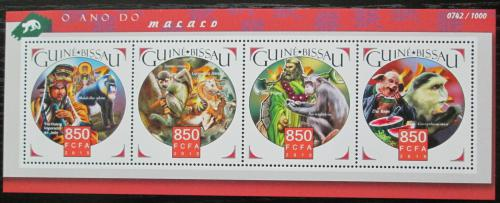 Poštovní známky Guinea-Bissau 2015 Opice Mi# 8361-64 Kat 13€