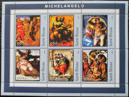 Poštovní známky Guinea-Bissau 2001 Umìní, Michelangelo Mi# 1678-83 Kat 9€