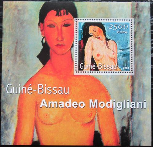 Poštovní známka Guinea-Bissau 2001 Umìní, Modigliani Mi# Block 347 Kat 8.50€