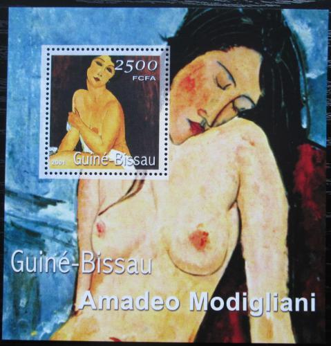 Poštovní známka Guinea-Bissau 2001 Umìní, Modigliani Mi# Block 348 Kat 8.50€
