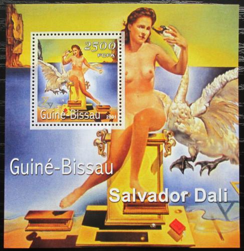 Poštovní známka Guinea-Bissau 2001 Umìní, Salvador Dalí Mi# Block 349 Kat 8.50€