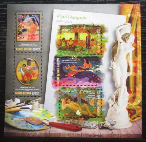 Poštovní známky Guinea-Bissau 2016 Umìní, Paul Gauguin Mi# 8548-52 Kat 12€