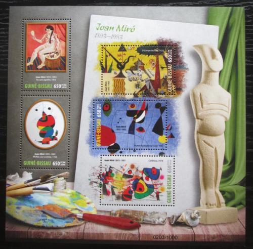 Poštovní známky Guinea-Bissau 2016 Umìní, Joan Miró Mi# 8560-64 Kat 12€