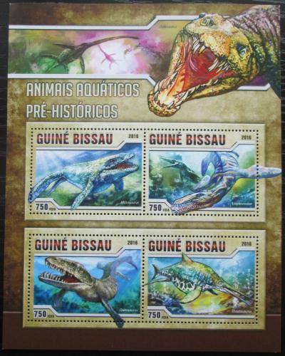 Poštovní známky Guinea-Bissau 2016 Moøští dinosauøi Mi# 8716-19 Kat 11€