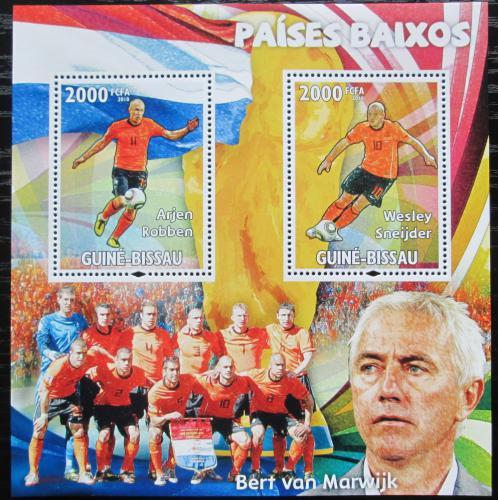 Poštovní známky Guinea-Bissau 2010 Slavní fotbalisti Mi# Block 794 Kat 16€