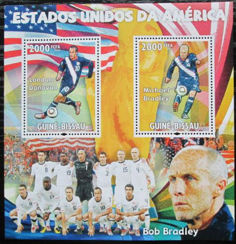 Poštovní známky Guinea-Bissau 2010 Slavní fotbalisti Mi# Block 796 Kat 16€