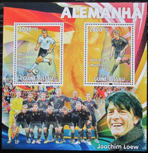 Poštovní známky Guinea-Bissau 2010 Slavní fotbalisti Mi# Block 793 Kat 16€