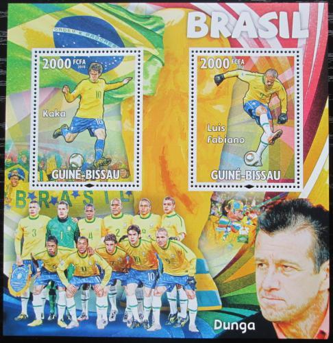 Poštovní známky Guinea-Bissau 2010 Slavní fotbalisti Mi# Block 799 Kat 16€