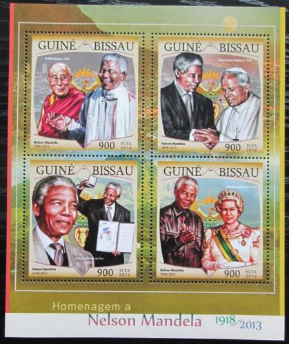 Poštovní známky Guinea-Bissau 2016 Nelson Mandela Mi# 8664-67 Kat 13.50€