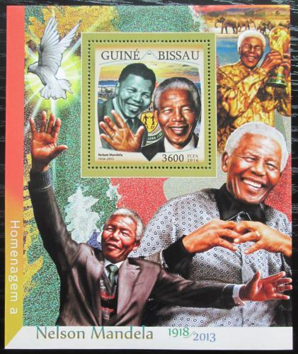 Poštovní známka Guinea-Bissau 2016 Nelson Mandela Mi# Block 1502 Kat 13.50€