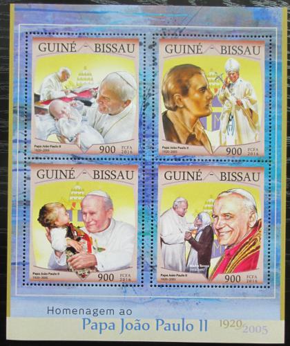 Poštovní známky Guinea-Bissau 2016 Papež Jan Pavel II. Mi# 8674-77 Kat 13.50€