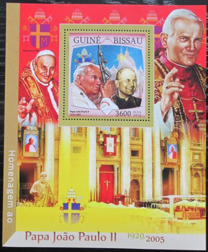 Poštovní známka Guinea-Bissau 2016 Papež Jan Pavel II. Mi# Block 1504 Kat 13.50€