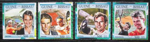 Poštovní známky Guinea-Bissau 2016 Slavní tenisti Mi# 8634-37