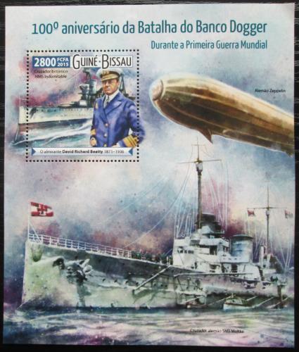 Poštovní známka Guinea-Bissau 2015 Bitva u Dogger Banku Mi# Block 1411 Kat 11€