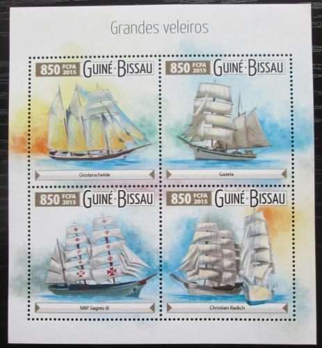 Poštovní známky Guinea-Bissau 2015 Plachetnice Mi# 8088-91 Kat 14€