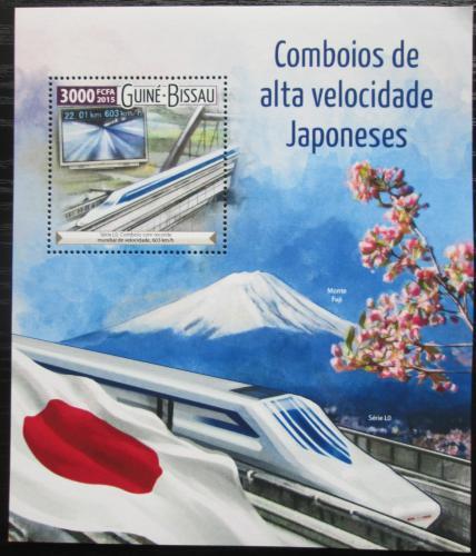Poštovní známka Guinea-Bissau 2015 Moderní lokomotivy Mi# Block 1412 Kat 12€