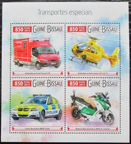 Poštovní známky Guinea-Bissau 2015 Záchranáøská technika Mi# 8100-03 Kat 14€
