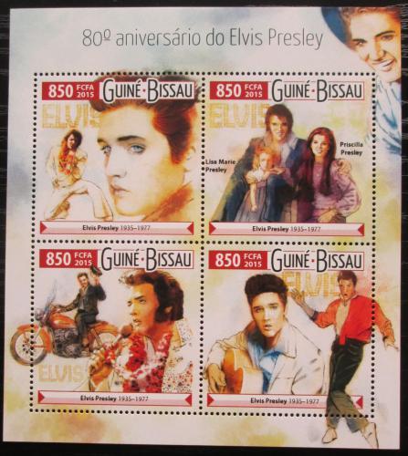 Poštovní známky Guinea-Bissau 2015 Elvis Presley Mi# 8105-08 Kat 14€