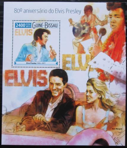 Poštovní známka Guinea-Bissau 2015 Elvis Presley Mi# Block 1408 Kat 9€