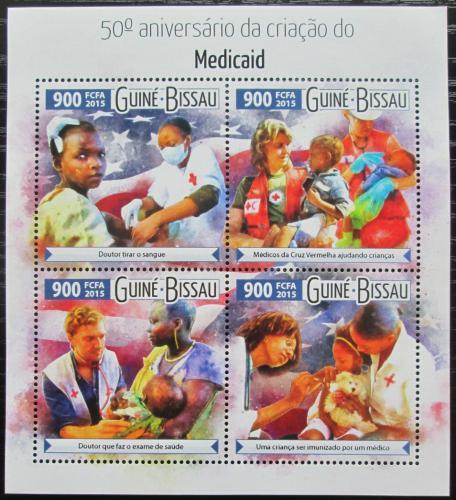 Poštovní známky Guinea-Bissau 2015 Zdravotní program Medicaid Mi# 8125-28 Kat 14€