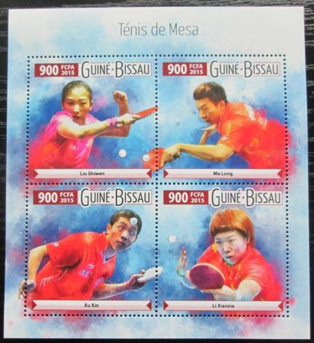 Poštovní známky Guinea-Bissau 2015 Stolní tenis Mi# 8129-32 Kat 14€