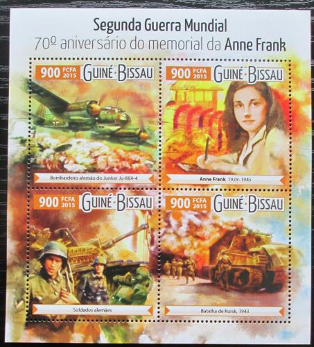 Poštovní známky Guinea-Bissau 2015 Druhá svìtová válka Mi# 8138-41 Kat 14€