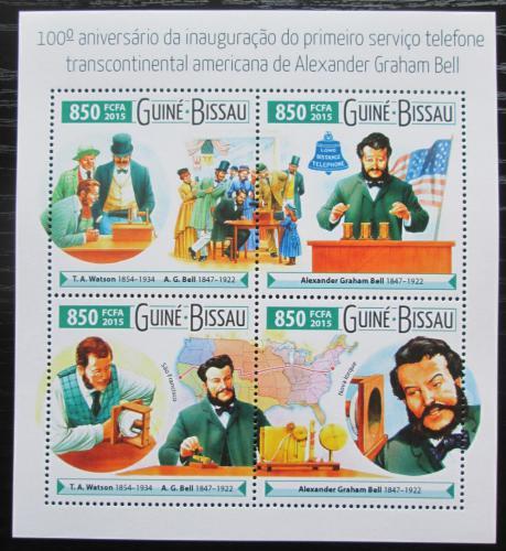 Poštovní známky Guinea-Bissau 2015 Alexander Graham Bell Mi# 8096-99 Kat 14€